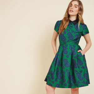 ModCloth Uniqueness on Offer Floral Shirt Dress